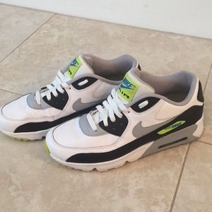 Air Max 90 wolf grey/white/cyber - GS size 6.5